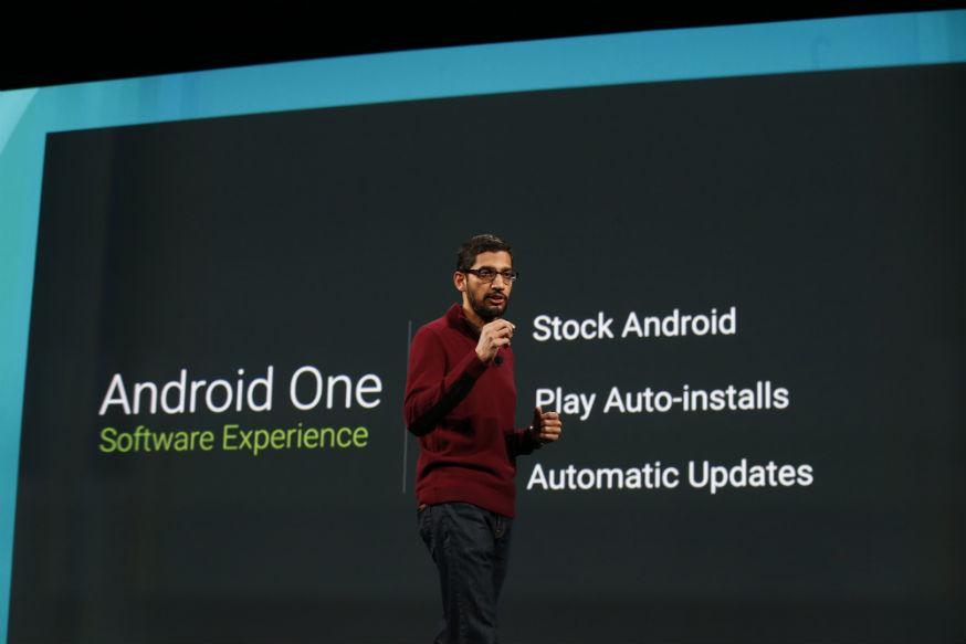 """Android One,"" after the company's mobile operating system Android, and will cost less than $100."