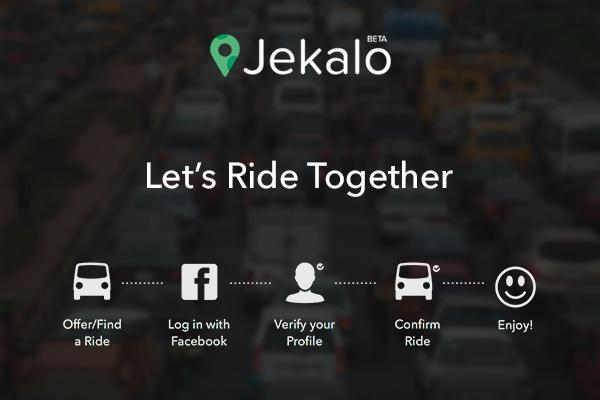 Jekalo, an online platform where you can share a ride