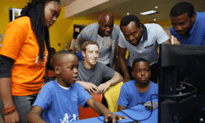 Zuckerberg makes surprise trip to see Nigerian tech scene