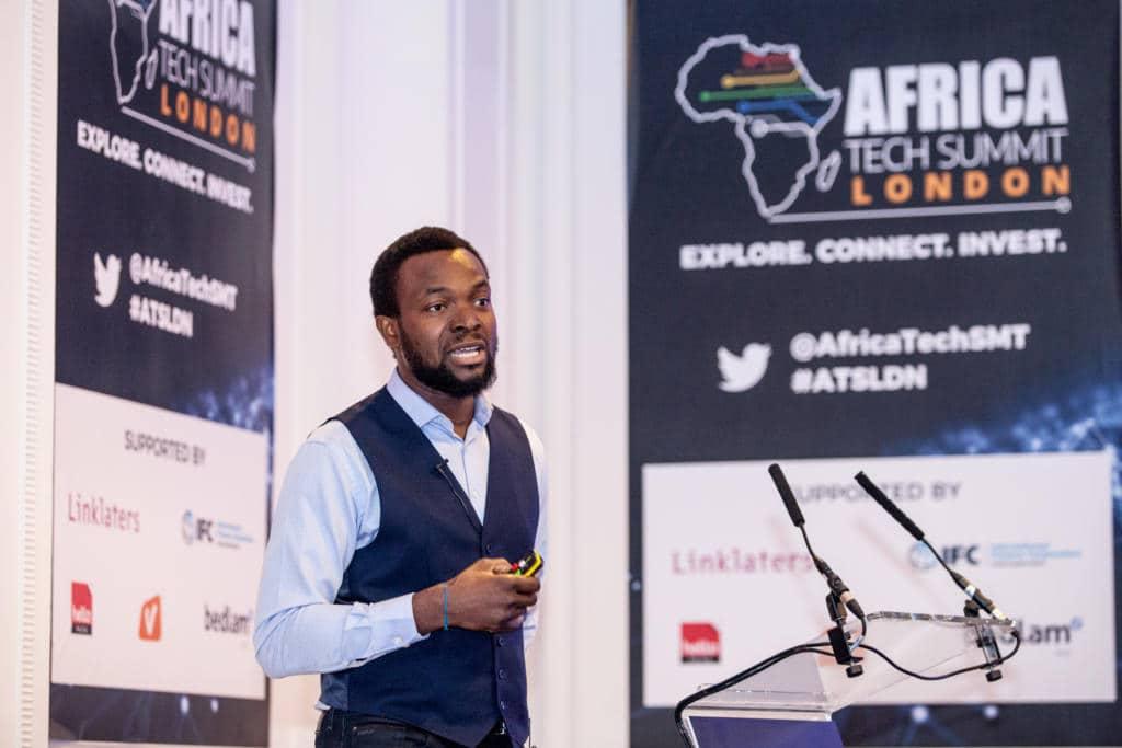 Bosun Tijani, founder of CcHUB at Africa Tech Summit London.